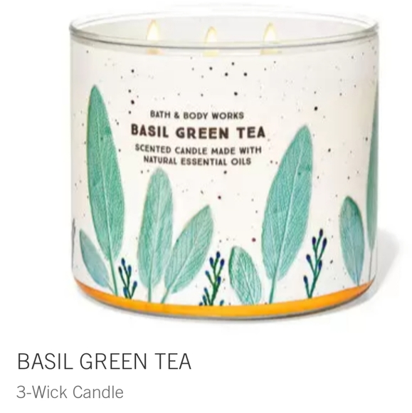 "🍵🕯NWT‼️ BBW ""Basil Green Tea"" 3-wick Candle"